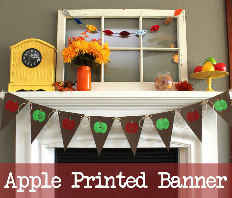 Apple Printed Fall Banner Graphic