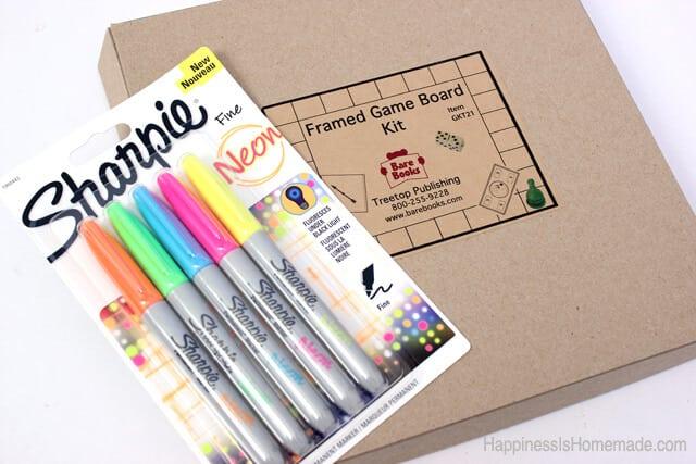 Neon Sharpie + Blank Board Game