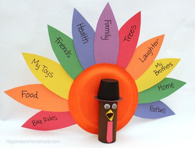 Thanksgiving Gratitude Turkey Kids Craft