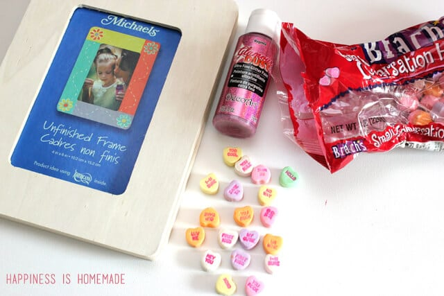 Conversation Heart Photo Frame Supplies