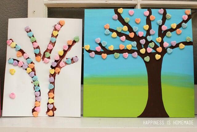 Conversation Heart Tree Art