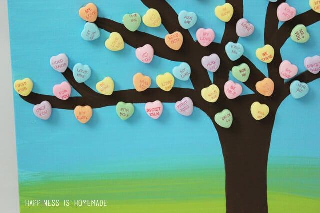 Conversation Heart Tree Valentine's Decor