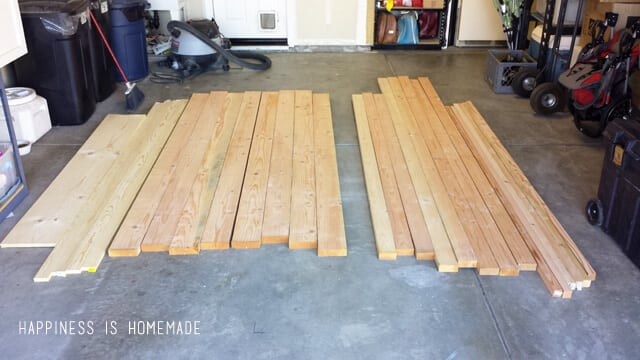 Lumber for a Farmhouse Table