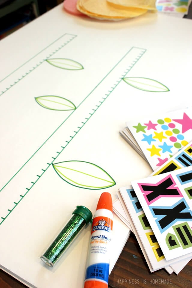 Making a Spring Reading Incentive Chart with Elmers Board Mate Products