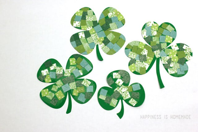 Mosaic Paper Shamrock St Patricks Day Kids Craft