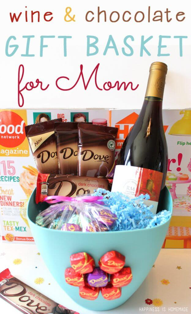 Dove Dark Chocolate and Wine Relaxing Mother's Day Gift Basket 2