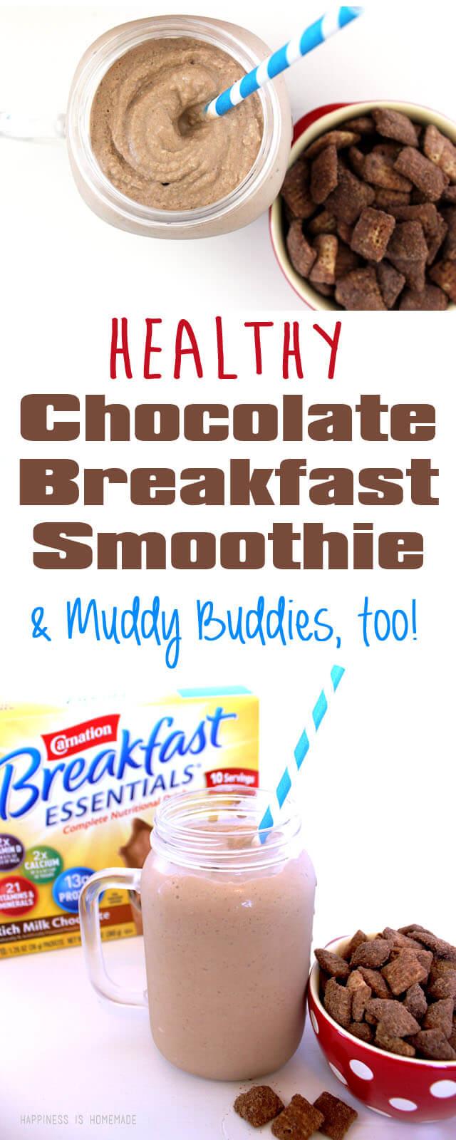 Healthy Chocolate Breakfast Essentials Smoothie