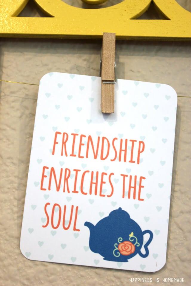 Friendship Enriches the Soul