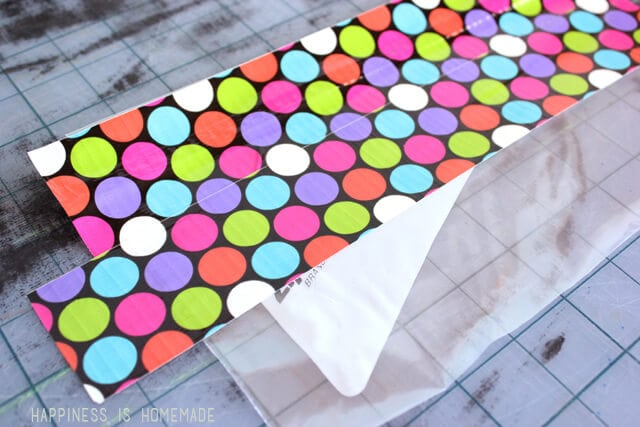 Making a Zippered Duck Tape Puch - Step 1