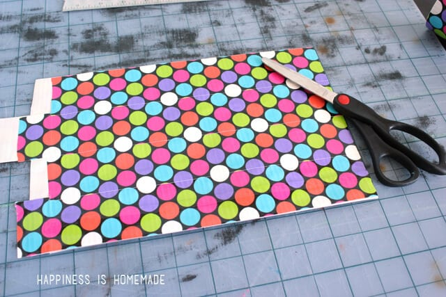 Making a Zippered Duck Tape Puch - Step 3