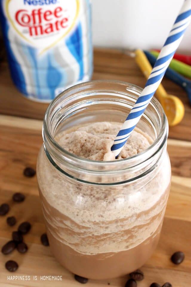 Creamy Blended Frozen Iced Mocha Coffee Drink