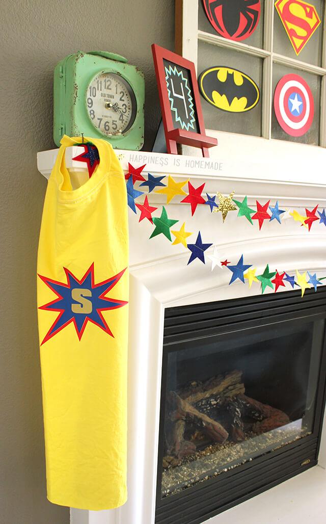No Sew Personalized Superhero Capes