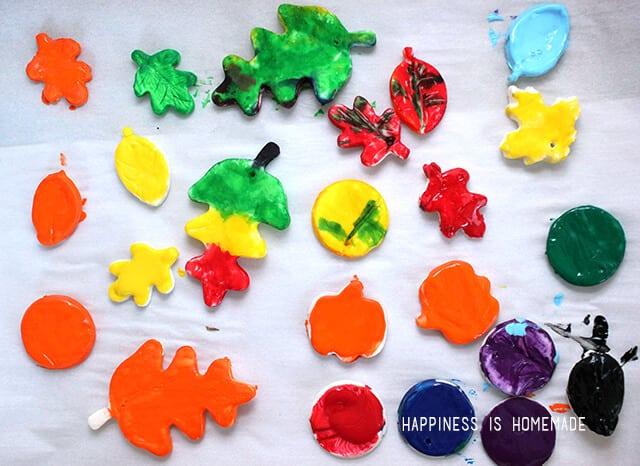 DIY Polymer Clay Leaf Fall Kids Craft