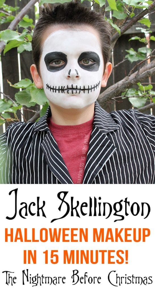 Jack Skellington Halloween Makeup in Only 15 Minutes