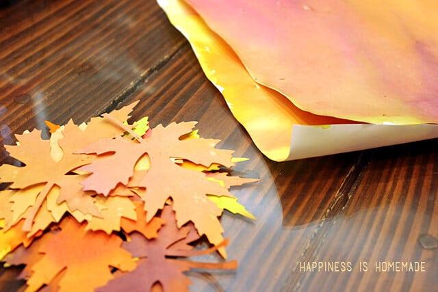 Watercolor Paper Leaves