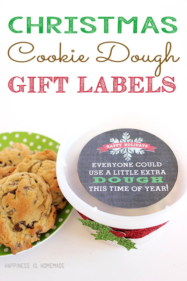 Christmas Cookie Dough Printable Gift Tag