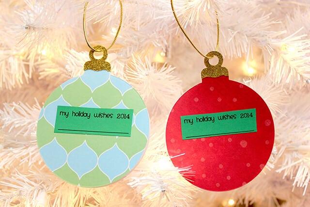 Holiday Wishes Keepsake Ornament Book