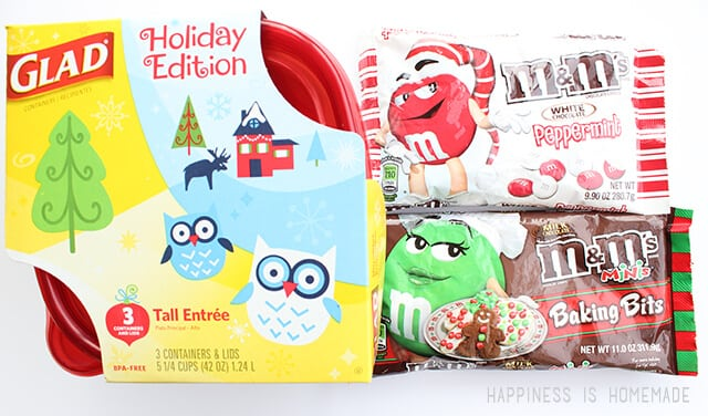 Holiday M&Ms and Glad