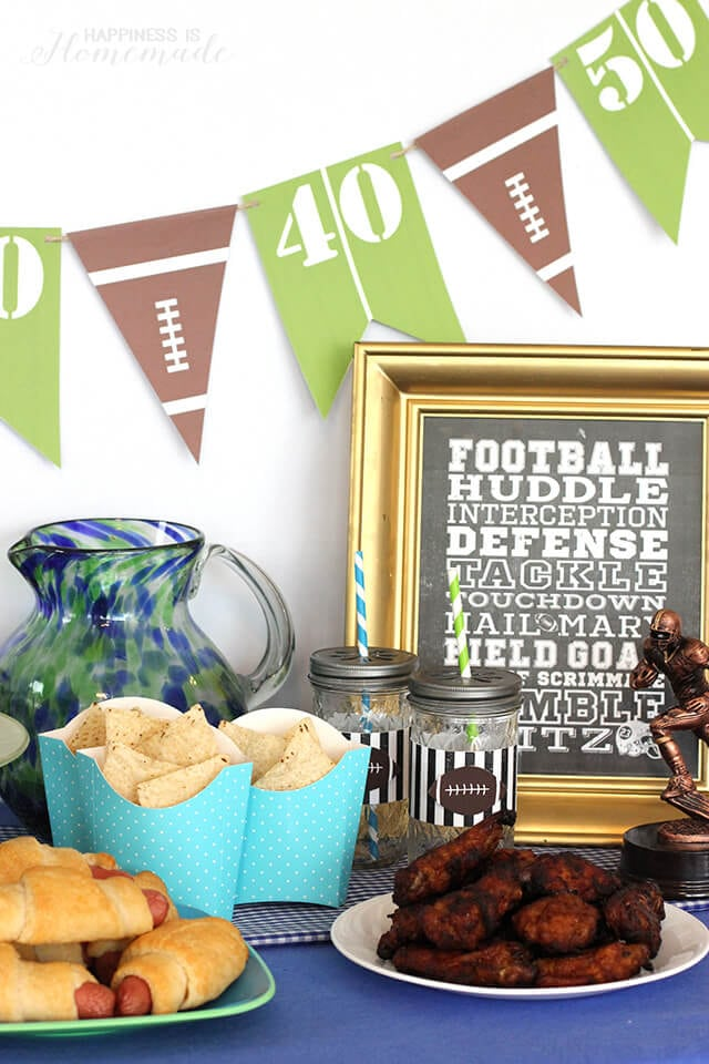 Football Party Beverage Center