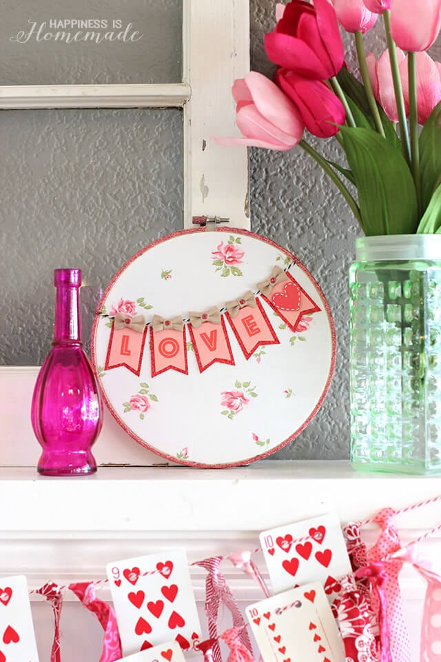 Valentine's Day Hoop Art with Target One Spot Items