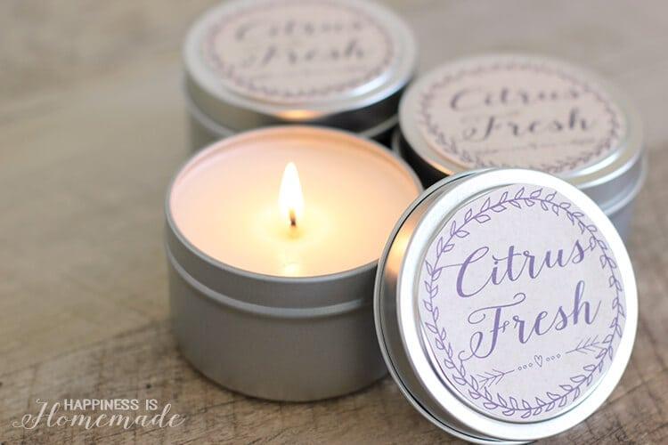 10 Minute DIY Citrus Fresh Candles