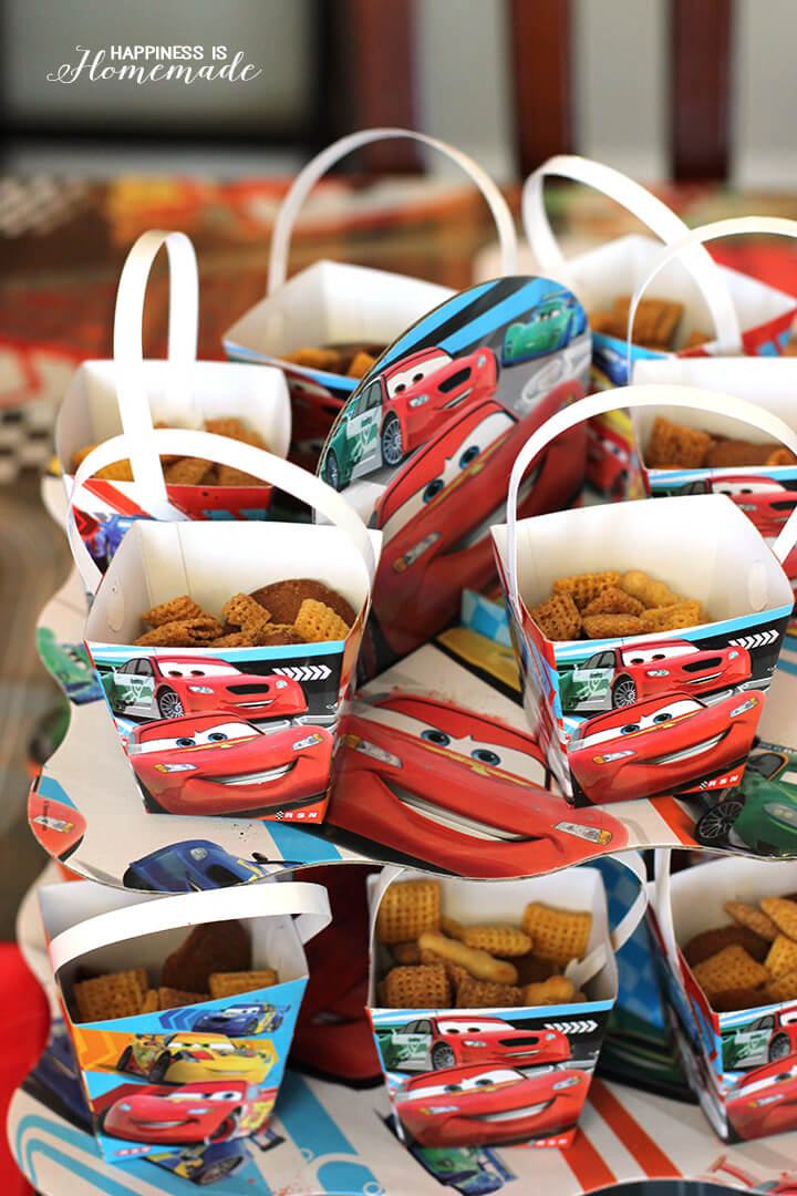 Chex-ered Flag Cars Snack Mix