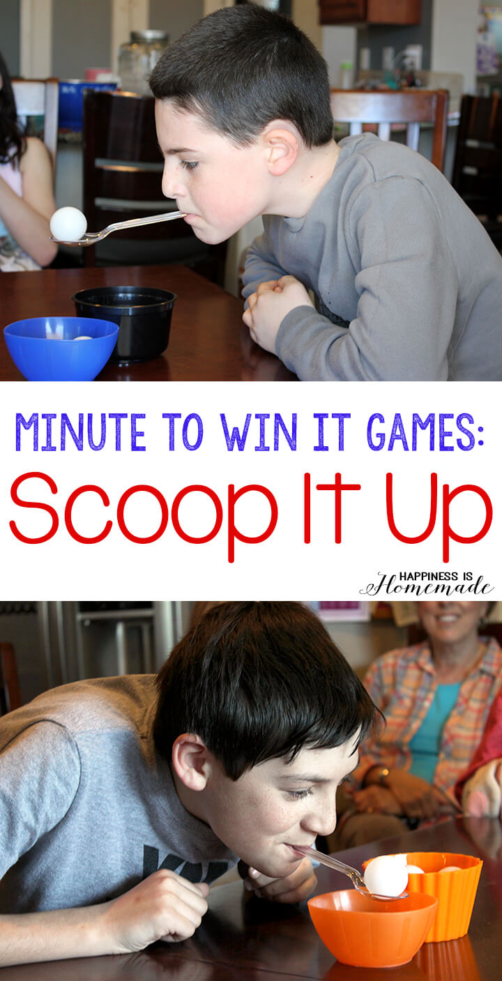 Minute to Win It Games - Scoop It Up