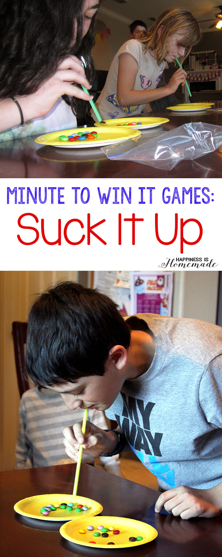 Minute to Win It Games - Suck It Up