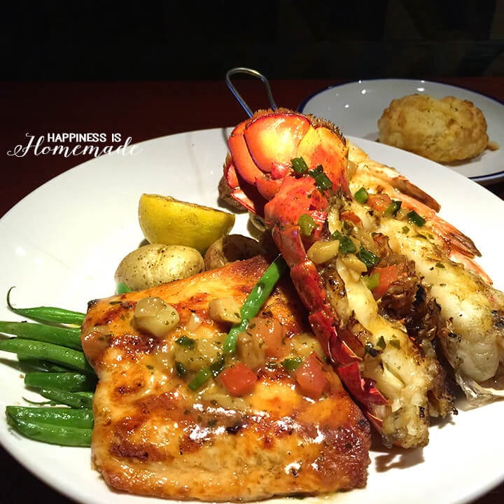 Wood-Grilled Lobster Shrimp and Salmon at Red Lobster