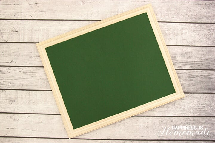 Framed Green Chalkboard Foam Board