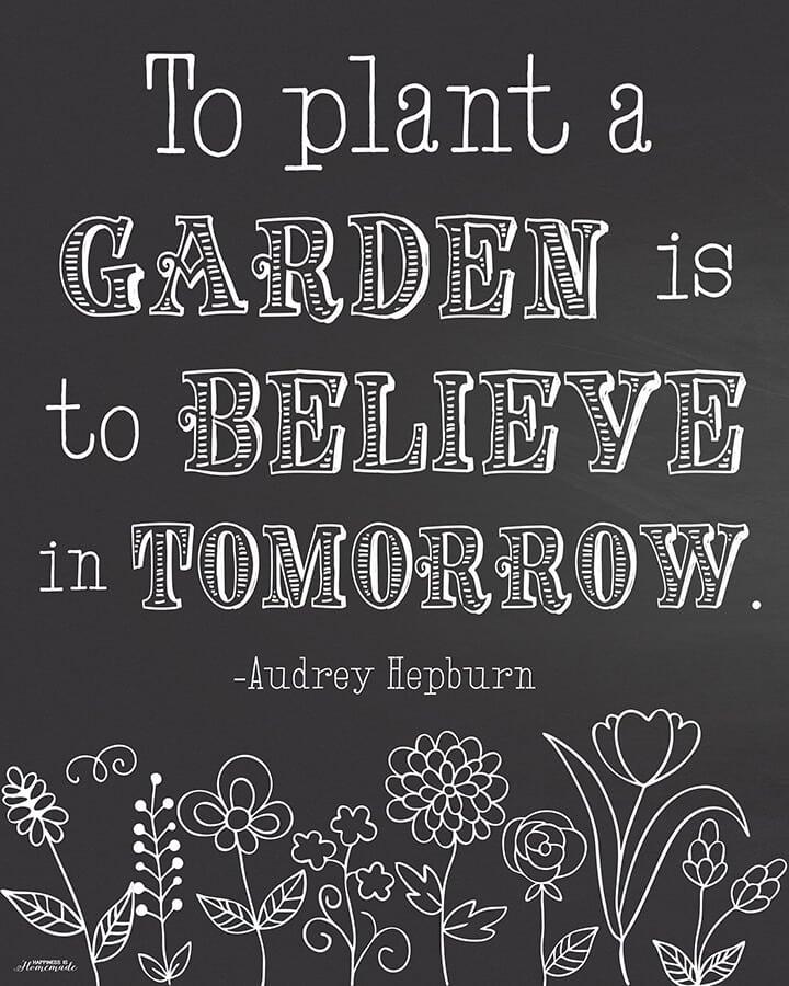Garden Quote - Black