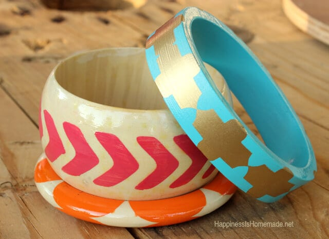 Painted-Wood-Bracelets