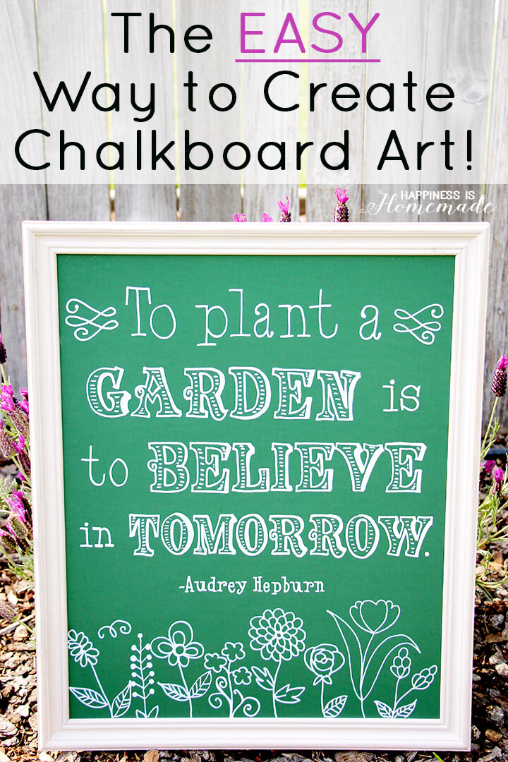 The Easiest Way to Create Chalkboard Art