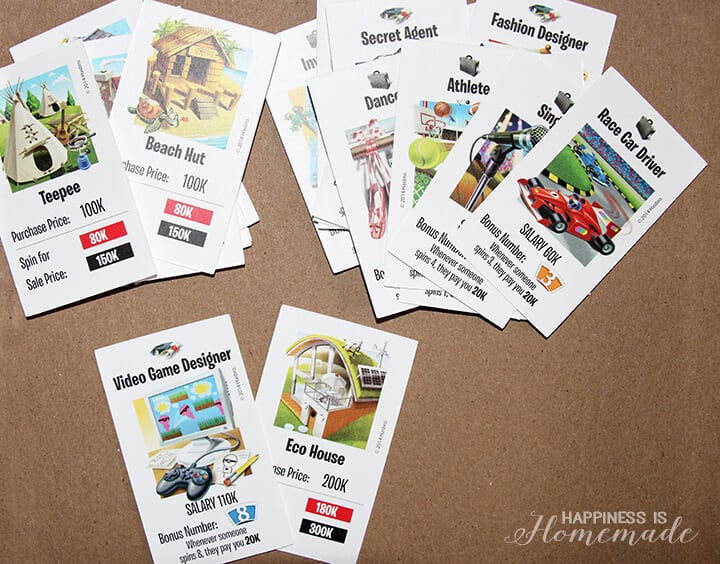 The Game of Life Game Career Cards