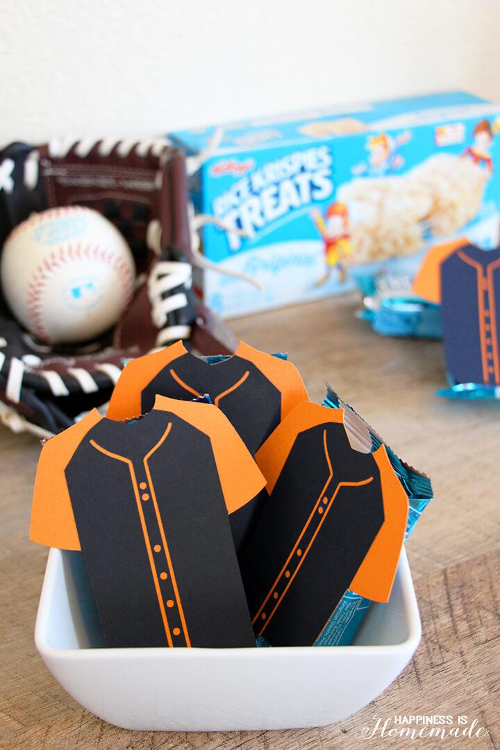 Rice Krispies Treats Baseball Team Snack Idea