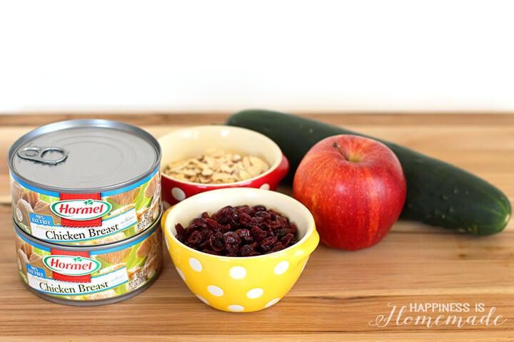 Cranberry Almond Chicken Salad Recipe Ingredients