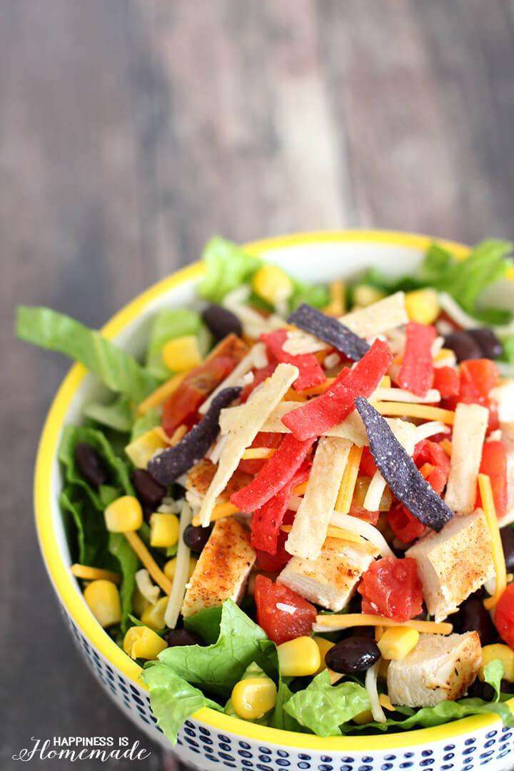 Quick and Easy Fiesta Chicken Taco Salad Recipe