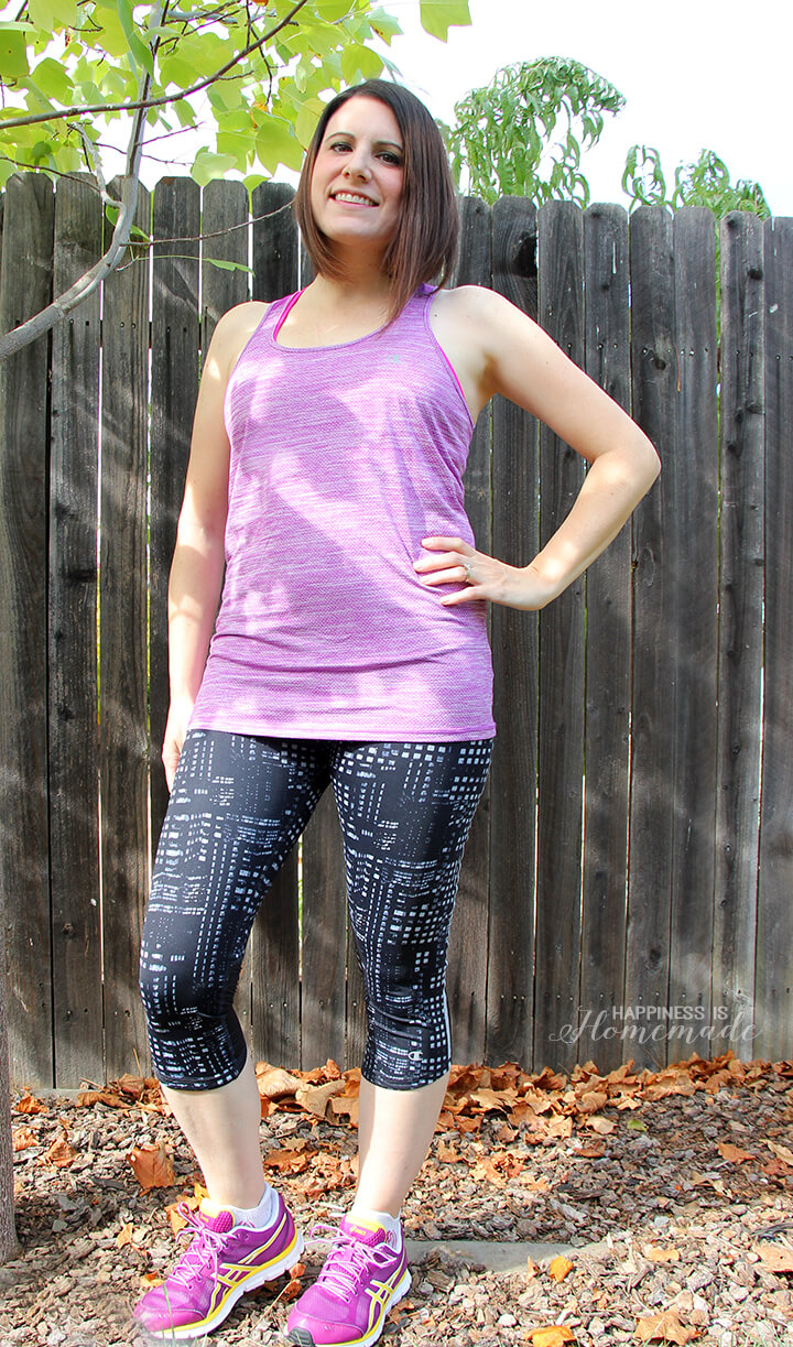 Champion GEAR Marathon Running Knee Tights and Power Train Tank from Sports Authority