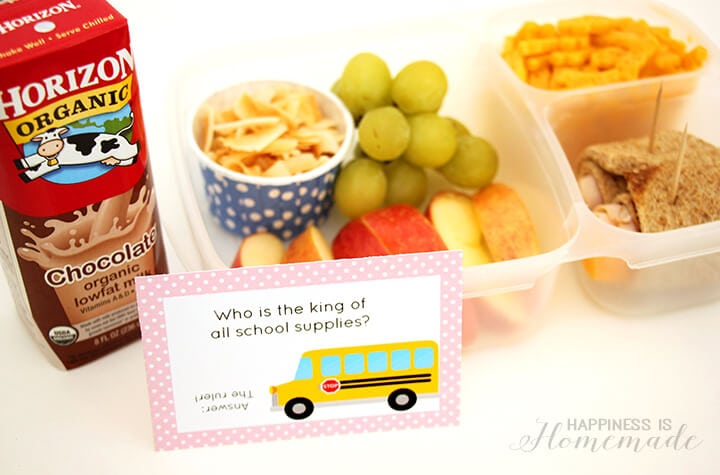Printable Back to School Lunch Box Jokes and Lunch Ideas