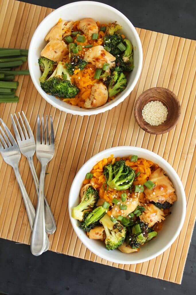 Teriyaki Chicken and Broccoli with Butternut Squash Rice