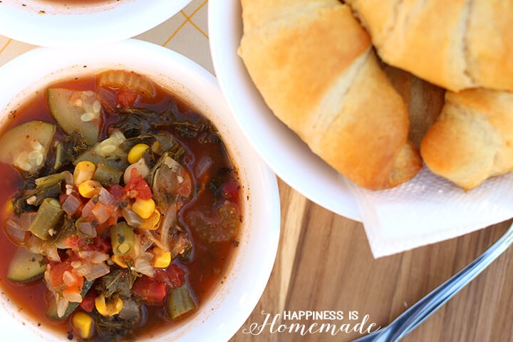 Creamy Hearty Vegetable Soup - Meatless Monday Meal