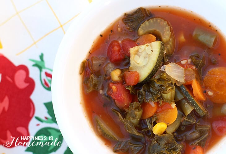 Creamy Hearty Vegetable Soup for Meatless Monday - Dairy Free Vegan Dinner