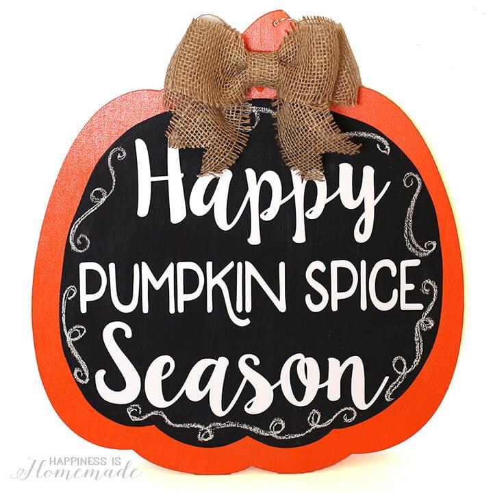 Happy Pumpkin Spice Season Fall Door Decoration