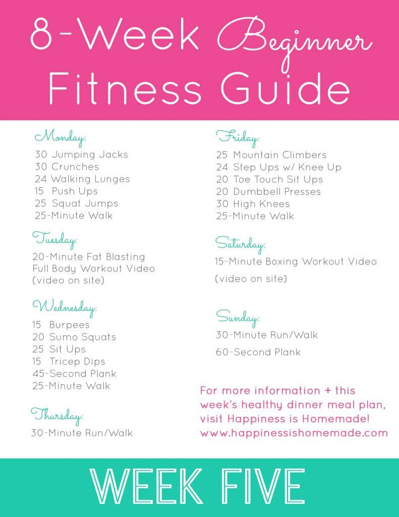 Week Five Workout Plan