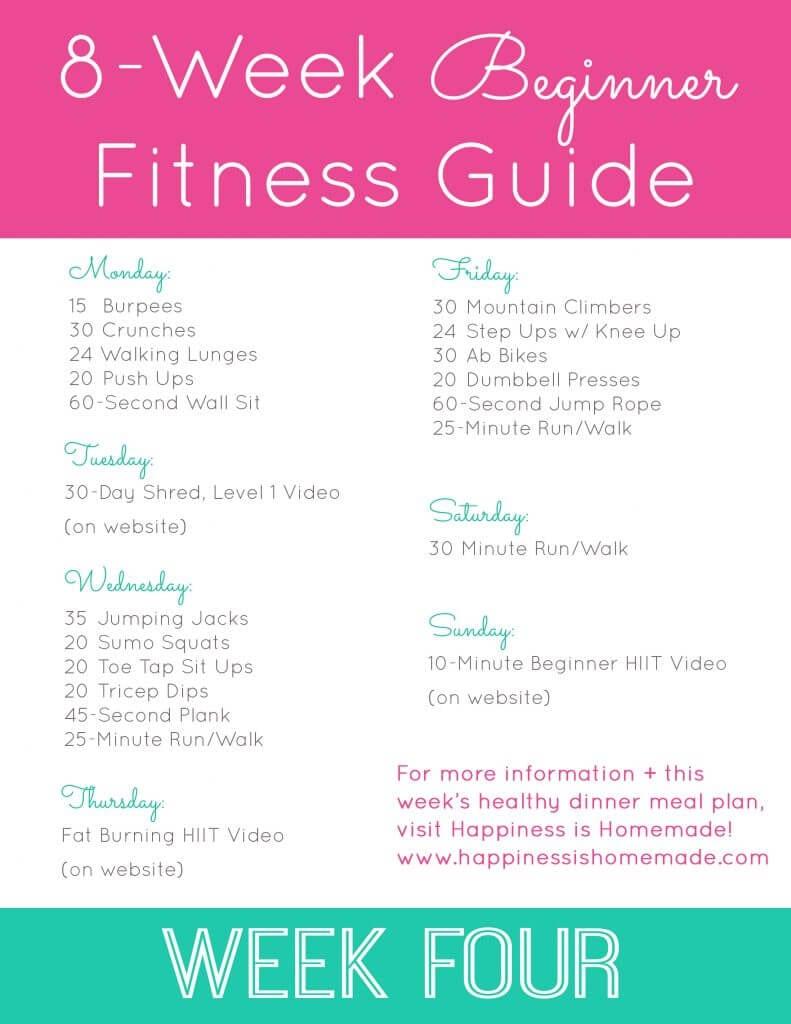Week Four Workout Plan 2