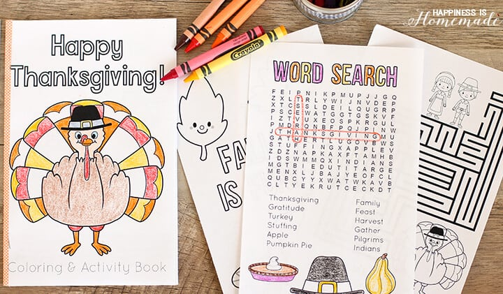 Fun Printable Thanksgiving Coloring Book for Kids