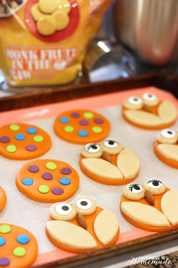 Making Owl and Polka Dot Cookies