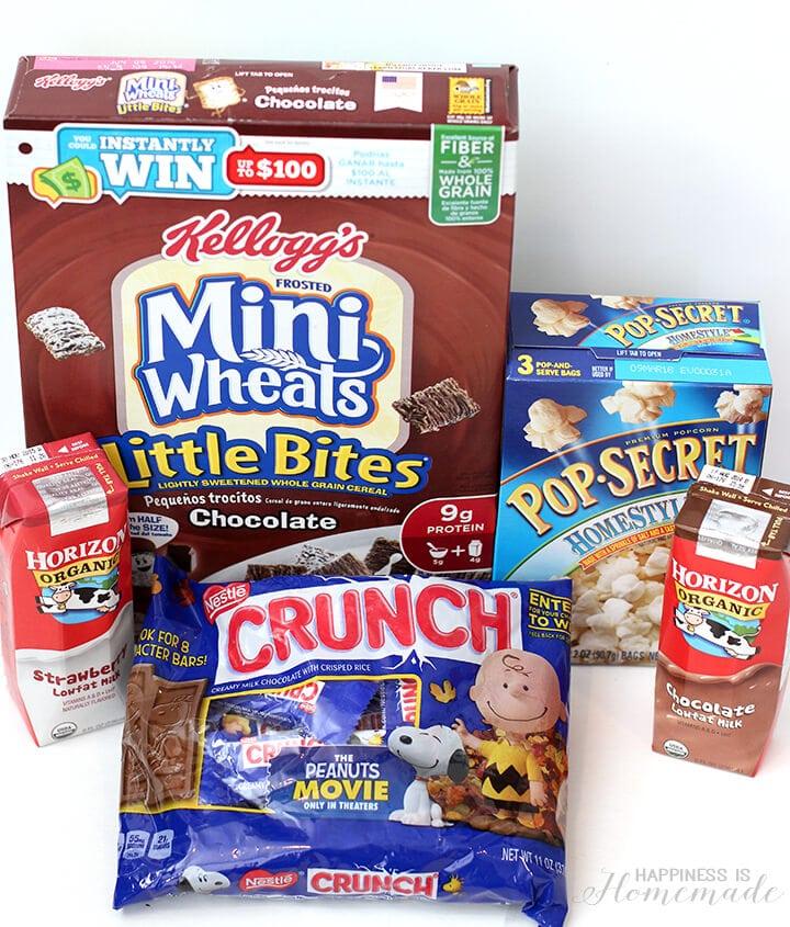 Peanuts Snack Mix Ingredients