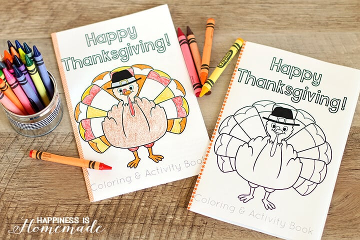 Thanksgiving Coloring Book is Fun for Kids