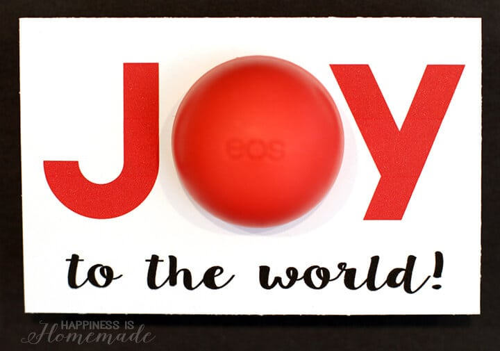 Joy to the World Christmas Printable for EOS Lip Balm